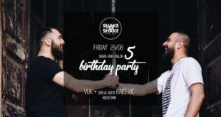 Shake'N'Shake slavi peti rođendan! Dođite na žurku!