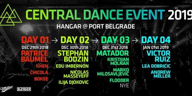 Kompletan program Central Dance Event novogodišnjeg festivala elektronske muzike