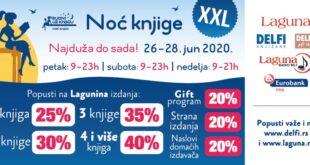 "Eurobank tradicionalno generalni sponzor manifestacije ""Noć knjige"", Gradski Magazin"